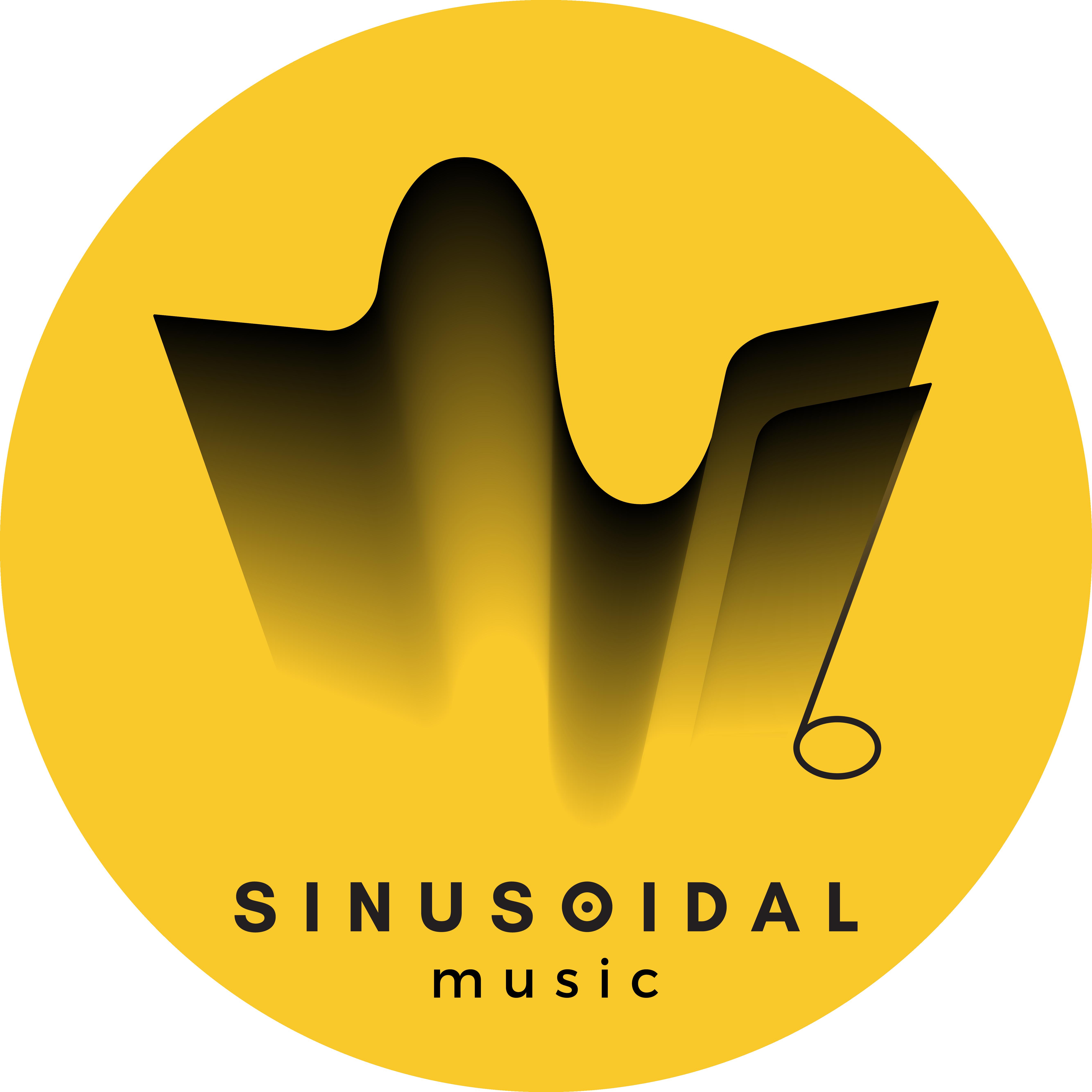 Sinusoidal music logo